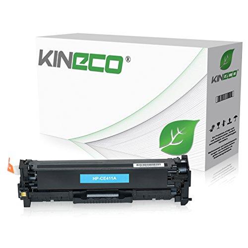 Kineco Toner kompatibel zu HP CE411A für HP Laserjet Pro 300 Color M351a, MFP M375nw, Laserjet Pro 400 Color M451dn dw nw, M475dn dw - 305A - Cyan 2.600 Seiten