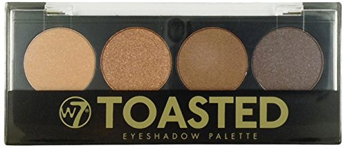 w7 Toasted Eyes Shadow Palette Maquillage de 4 Ombres à Paupières Dégradés Fauve pour un Effet Smoked 50 g