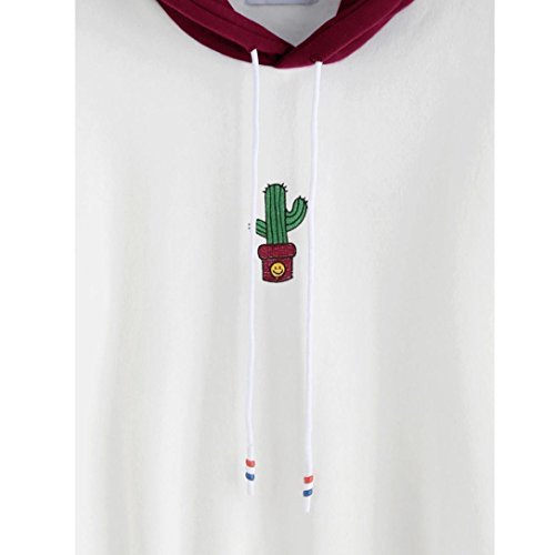 OverDose Donna Felpe Autunno Maniche Lunghe Con Cappuccio,Sono disponibili 22 colori e stili,XS-XXL rosso_D