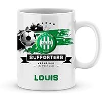 Mug de foot ASSE - Saint Etienne à personnaliser avec prénom - Cadeau personnalisé foot Saint Etienne