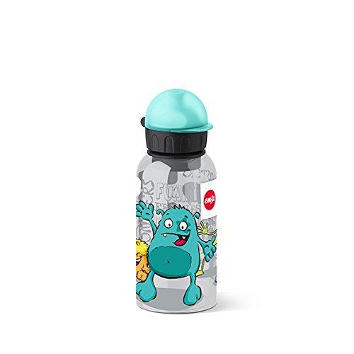 Emsa 518123 Kinder-Trinkflasche, 400 ml, Sicherheitsverschluss, Kids Monster, Tritan