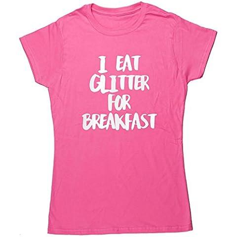 Eat HippoWarehouse I brillantini per la colazione, con maglietta a maniche corte da donna