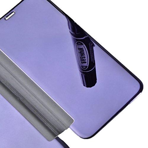 Vandot 2 en 1 Etui pour iPhone X Souple TPU Silicone Housse Clair Transparente Coque pour iPhone X / iPhone 10 Ultra Mince Ultra Léger Cover Absorption de Choc Antidérapant Anti-rayures Case pour iPho Flip- Bleu Saphir