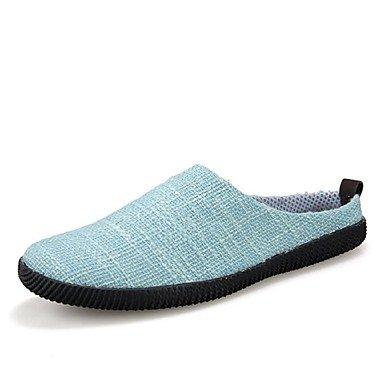 Sommer Sandalen Herrenschuhe legere Canvas Hausschuhe Blau/Beige/Khaki Beige