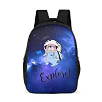 Zhcon Student Animal Pattern Backpack Lightweight Outdoor Backpacks College Bag for Teen Girls and Boys 32x18x42Centimeters grey onesize