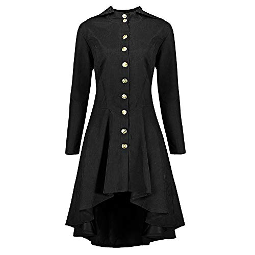 Oliviavan,Mode Damen Steampunk Lace Up Kapuzen Trenchcoat Jacke Blazer Tops Outwear Cocktailkleid...