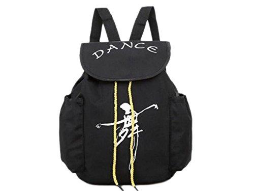 Laptoptasche, Silk Portable Dance Taschen Schulrucksack Tanztasche Sport Reisetaschen (Schwarz) Leinentasche