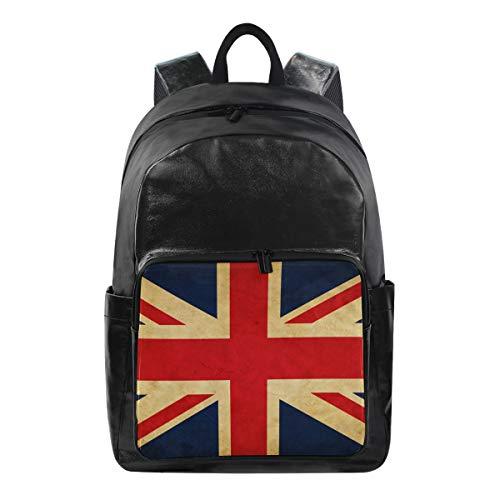 ISAOA 9401228 Rucksack, wasserdicht, für Schule, Laptop-Tasche, 39,6 cm (15,6 Zoll), Motiv UK-Flagge -