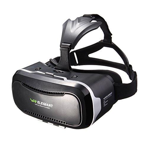 Occhiali VR 3D, ELEGIANT Occhiali Universal 3D VR Box Regolabili Occhiali di Realtà Virtuale Occhiali Video di Film Gioco di Realtà Virtuale Occhiali 3D VR Mondo Testa Montata per Film in 3D e giochi per 4.7