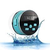 Massage Duschradios, wasserdichte tragbare drahtlose Bluetooth-Lautsprecher, HD-Sound-Dusche, Pool, Strand, Küche & Outdoor,Blue