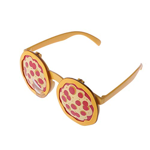 e Pizza Design Lustig Neuheit Sonnenbrille Gläser Kostüm Gläser Fotorequisiten Party Gastgeschenk ()