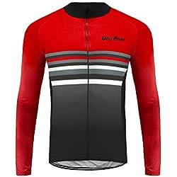 Uglyfrog Bike Wear Männer Winter Wolle Thermische Radfahren Trikots / Radfahren Set Langarm Kleidung mit Gepolsterten Hosen Hose 3D