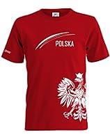 POLEN POLSKA FAN SHIRT - WUNSCHNAME UND NUMMER - KIDS - T-SHIRT