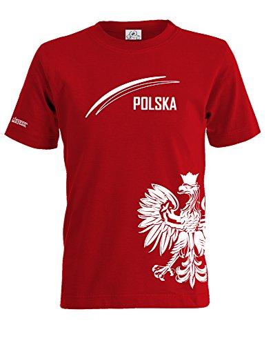 POLEN POLSKA FAN SHIRT - 01 - WUNSCHNAME UND NUMMER - KIDS - T-SHIRT by Kids-Jayess Gr. 122/128