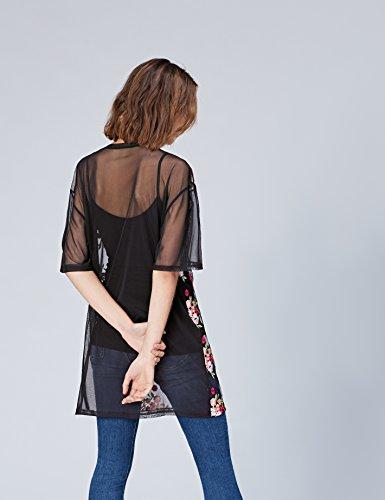 FIND Damen T-Shirt Mehrfarbig (Black)