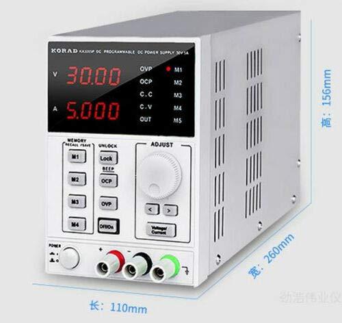 1092/5000 Precisión KA3005D ajustable variable de la fuente de alimentación DC del equipo de laboratorio 30V 5A