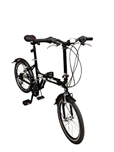 """ECOSMO 20"""" Brand New Folding City Bicycle Bike 21SP - 20F03BL from ECOSMO"""