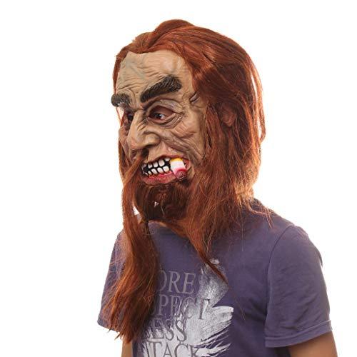 Michael Rob Zombie Kind Myers Kostüm - Altsommer Maske Heavy Smoker Creepy für Halloween Party Haunted House Dekoration
