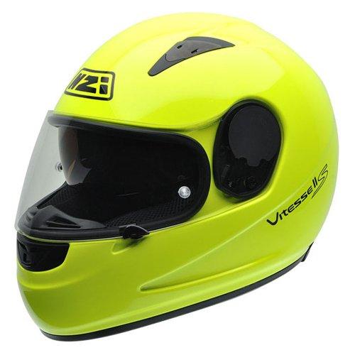 Casco de moto amarillo fluorescente