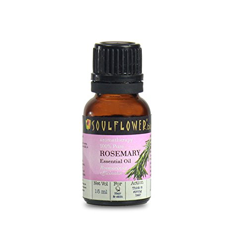 Soulflower Rosemary Pure Aroma Essential Oil, 15ml