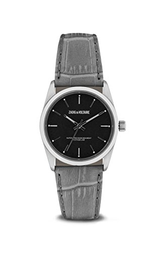 Zadig & Voltaire Unisex Date Quartz Watch with Leather Bracelet – ZVF237