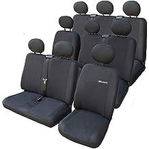Sitzbezüge Schonbezüge SET EI VW T5 Caravelle Stoff dunkel grau