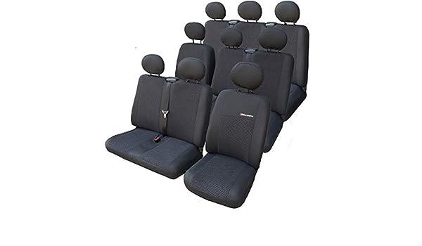 9-Sitzer  Elegance Maßgefertigte Autositzbezüge Renault Trafic II 2001-2014