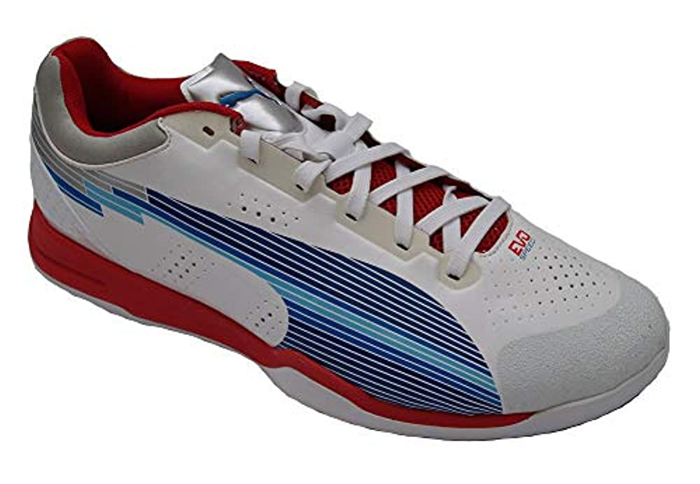 Puma Evospeed Indoor 1, White/Limoges/Ribbon red, Gr.46(UK11)