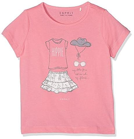 ESPRIT Mädchen T-Shirt RJ10333, Rosa (Marshmallow 346), 128
