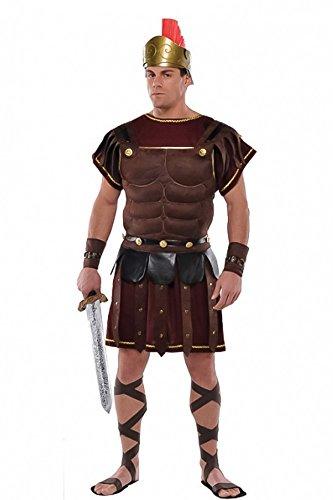 shoperama Römer Herren-Kostüm Roman Soldier Brustpanzer Armstulpen Rüstung römischer Soldat Legionär Krieger Karneval Verkleidung, - Römischen Legionärs Rüstung Kostüm