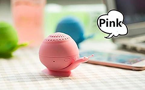 Mini son support Chickwin nouveau support de téléphone ventouse escargot mini haut-parleur portable Bluetooth Bluetooth créatif audio (Rose)