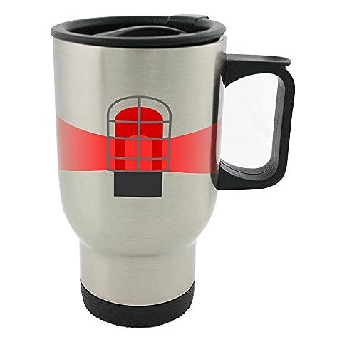 Goal lamp for hockey. 14oz Stainless Steel mug