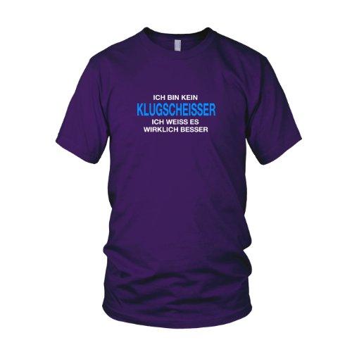 Ich bin kein Klugscheißer - Herren T-Shirt Lila