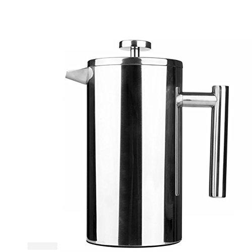 Party-percolator (FGDJTYYJ 350 ml / 800 ML Edelstahl Französisch Kaffeebereiter Permanent Kaffee Filterkorb Espresso Tee Maker Doppelwand Percolator Werkzeug Kaffeekanne, 8L)
