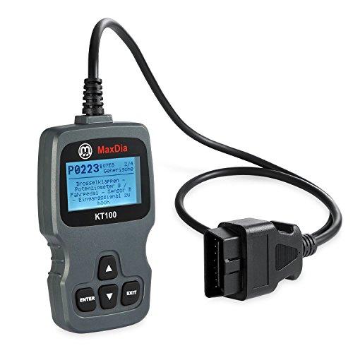 Preisvergleich Produktbild MaxDia® KT100 OBD2 Diagnosegerät EOBD für alle Fahrzeughersteller,  Sprache: DE