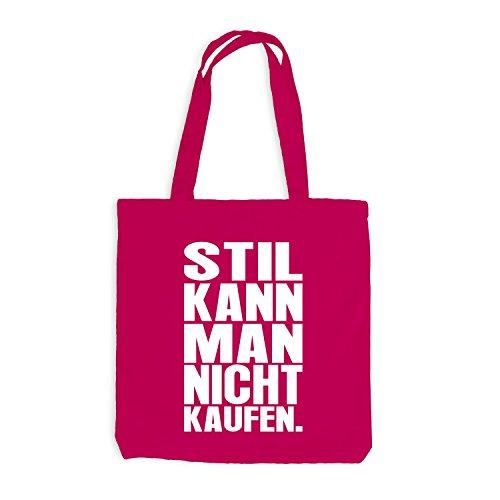 Jutebeutel - Stil kann man nicht kaufen - Style Design Casual Pink