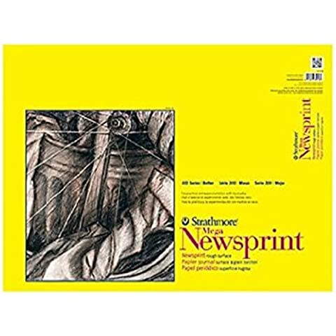 Strathmore 300 Series Newsprint Paper Pads rough pad of 60 18 in. x 24 in.