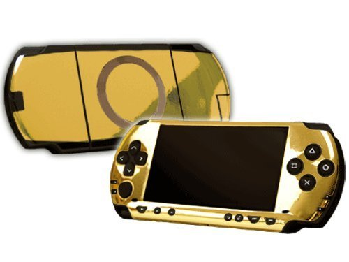 Sony PlayStation Portable 1000 (PSP) Skin - NEW - GOLD CHROME MIRROR system skins faceplate decal mod by System Skins (Psp Chrome)