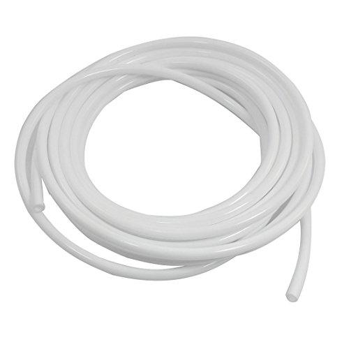 Aexit Industrie 5m Länge 5mm Innendurchmesser Weiße Flexible Kunststoffrohre