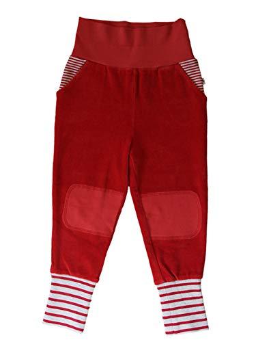 Baby Kinder Hose Nickyhose Bio-Baumwolle 8 Farben Wählbar GOTS Nicki Strampelhose Jungen Mädchen Gr. 50/56 bis104 (98/104, rot-Ziegel)