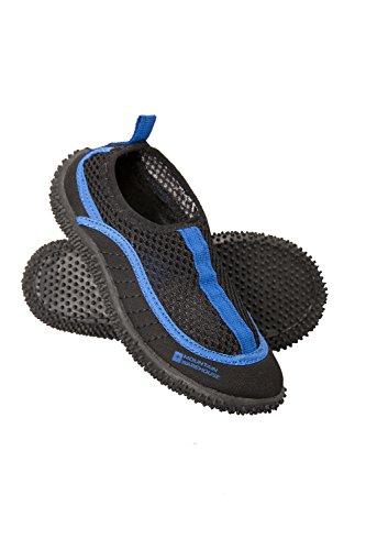 Mountain Warehouse Bermuda Junior Aqua-Schuhe - Leichte Kinder-Schwimmschuhe, Wasserschuhe zum Schlüpfen, Neopren, Schuhsocken mit Netzeinsatz - Für Unterwassergehen Blau 28 EU -