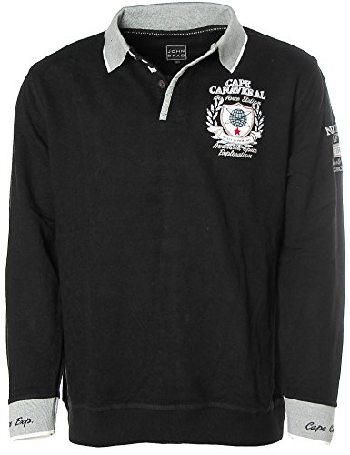 John Brad Herren Sweatshirt Polo Pullover -Cape Canaveral Air Force Station- Schwar... (Air Force-sweatshirt)