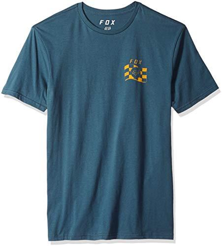 Fox Herren Classic Short Sleeve Premium T-Shirt, Navy, Groß - Fox Navy T-shirt