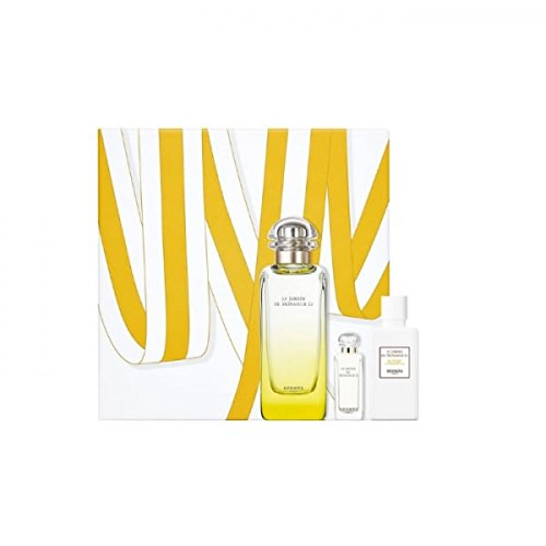 Hermes Le Jardin de Monsieur Li 100ml EDT Eau de Toilette Spray + 40ml Body Lotion + 7.5ml EDT Miniatur (Spray Ml 7,5 Mini)