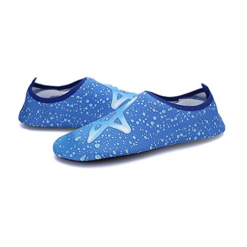 Romacci Unisex Aquaschuhe Strandschuhe Weiche schnelltrockene rutschfeste Schwimmschuhe für Damen&Herren Polyester Gewebe Schuhe 44