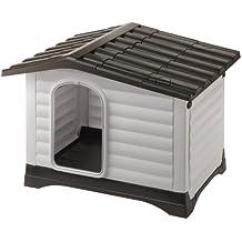 Ferplast 87257099 Caseta de Exterior para Perros Dogvilla 110, Panel Lateral Que Se Puede Abrir