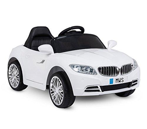 Voiture électrique LT861 pour enfants Crazy portes automatiques et 3 vitesses - Blanc