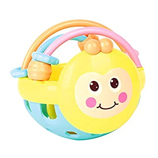 Amtop Manhattan Grasping Rattles Teether Toy Baby Rattle Toy Early Educational Toys for Baby Infant, Newborn Baby Gift (Bee Rattle)