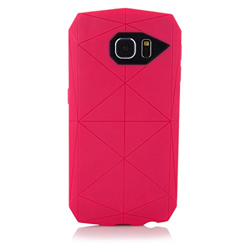 ImagineDesign™ Military-Grade Tough Hybrid Stealth Armour Series Shockproof Rugged Back Case Cover for Samsung Galaxy S6 - Rouge Pink