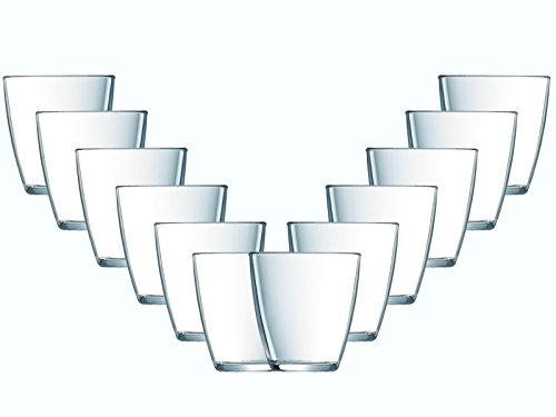 Gläser-Set Neopol 12 teilig | Füllmenge: 250 ml | Ein Glas für alle Getränke - der perfekte Allrounder | Saft-Wasser-Gläser